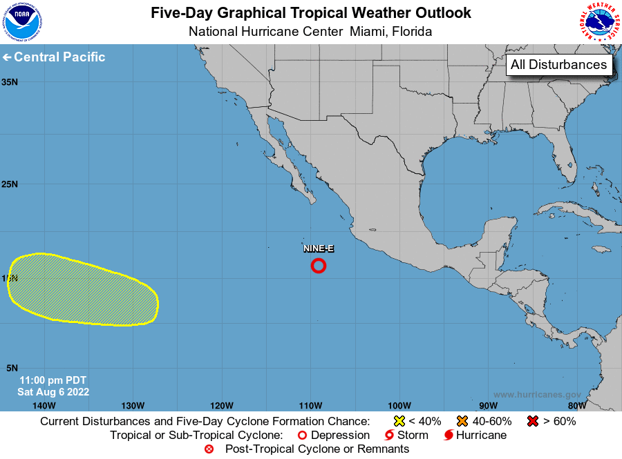 NOAA 5day Graphical Tropical Weather Outlook Pacific is temporarily unavailable.