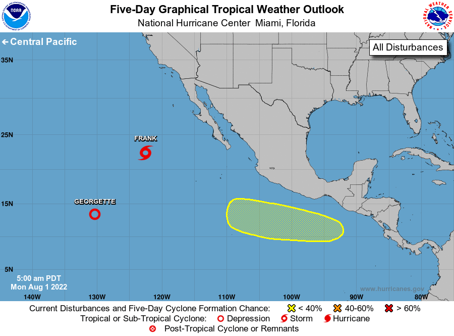 NHC Eastern Pacific 5-Day Tropical Weather Outlook