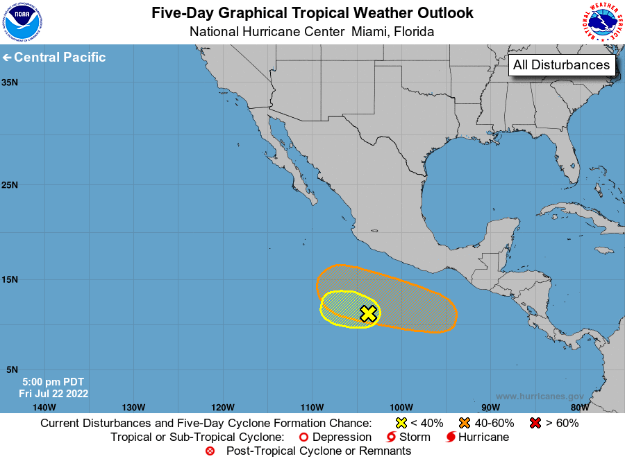 Eastern North Pacific 5-Day Graphical Tropical Weather Outlook