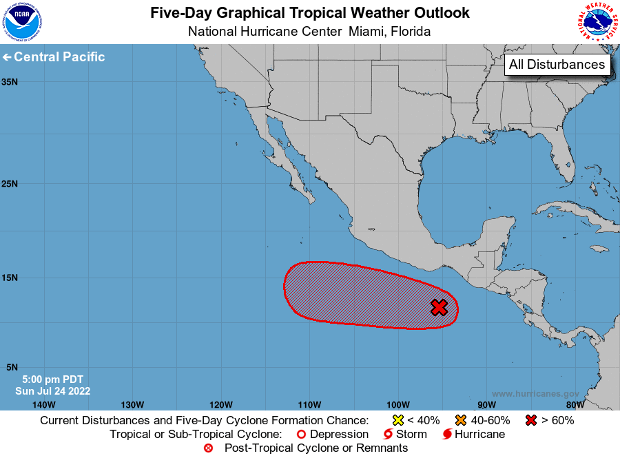 Eastern Pacific 5-Day Tropical Outlook